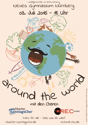Sing around the world Plakat